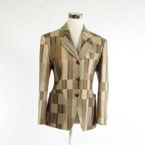 Koy beige wool blazer jacket IT42 8